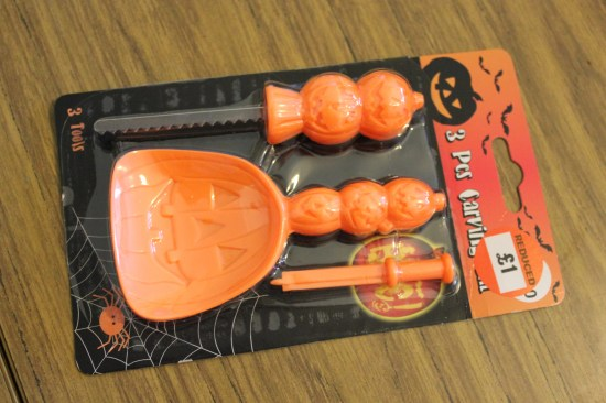 Halloween pumpkin knife carving kit from the factory shop