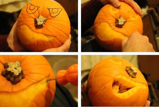 how to carve an angry halloween pumpkin scary jack o lantern eating orange