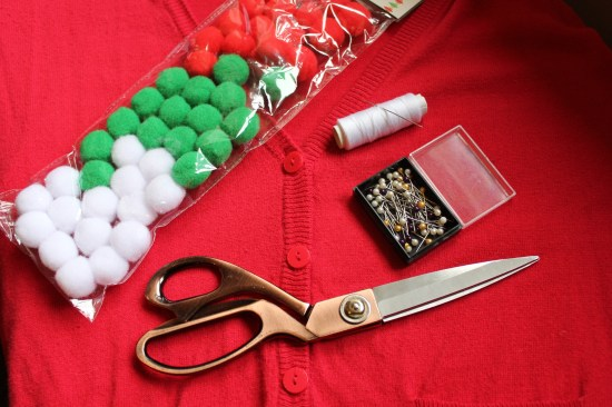 christmas jumper DIY pompoms you will need