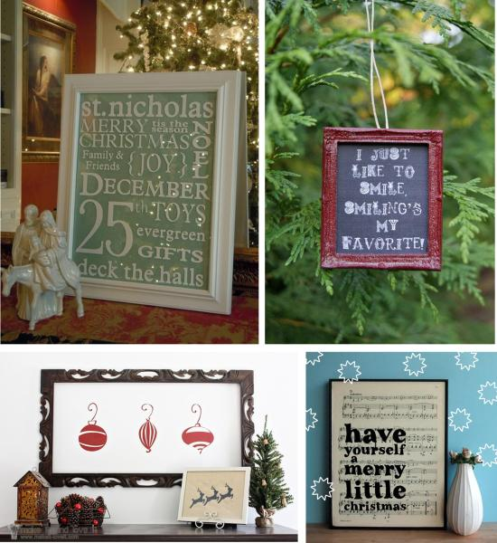 DIY festive christmas posters artwork prints