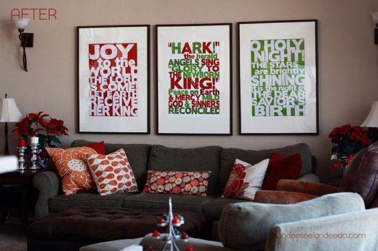 festive christmas posters DIY art print