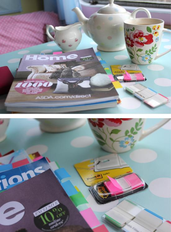 getting organised with christmas gift guides using Post It Index