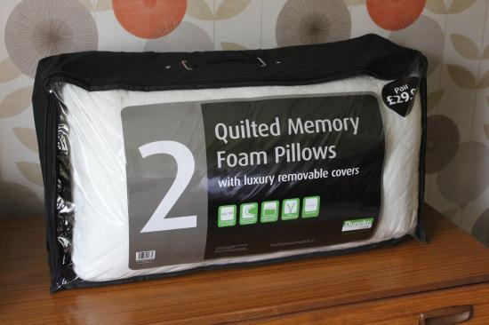 sleep challenge memory foam pillows from dunelm