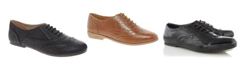 tuesday shoesday ladies brogues flat shoes from george asda asos new look