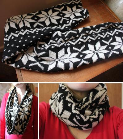 finished festive christmas sewing project DIY snood scarf