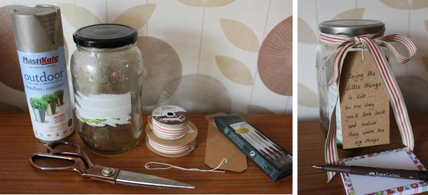 diy craft project little jar of happy gratitude happiness