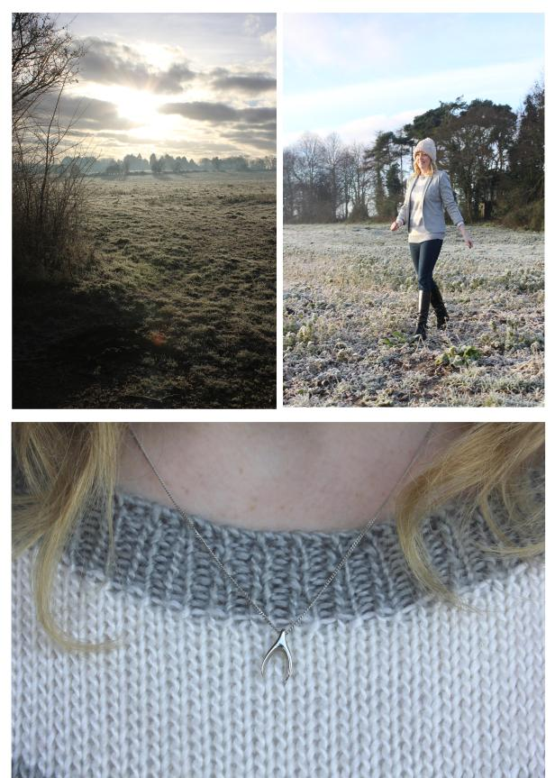 frosty morning walk fashion brag vintage jumper