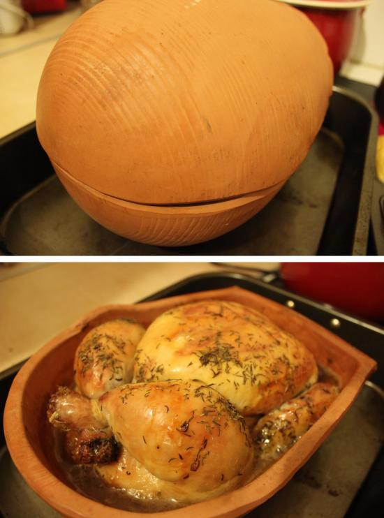 Pieday friday recipe for clay roast chicken brick