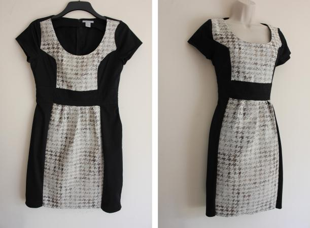contrast panel dress upcycling sewing project