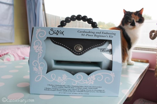 card making craft ideas including Sizzix embossing kit review-1