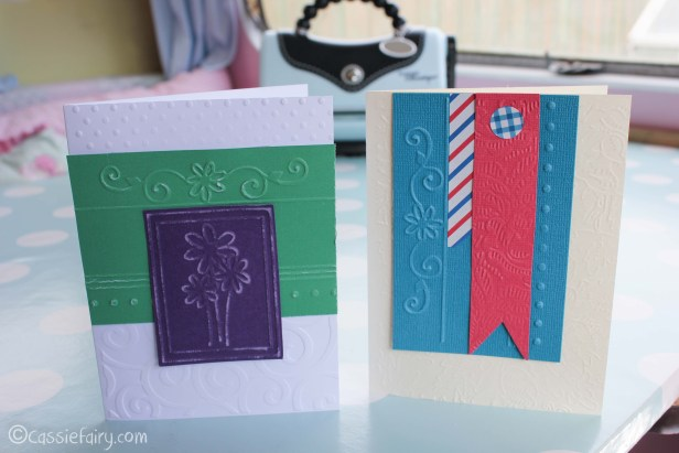 card making craft ideas including Sizzix embossing kit review-23