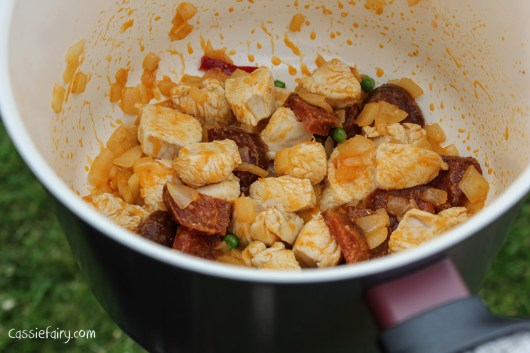 Glamping festival ideas - pieday friday recipe for one-pot campfire cooking - Jambalaya-3