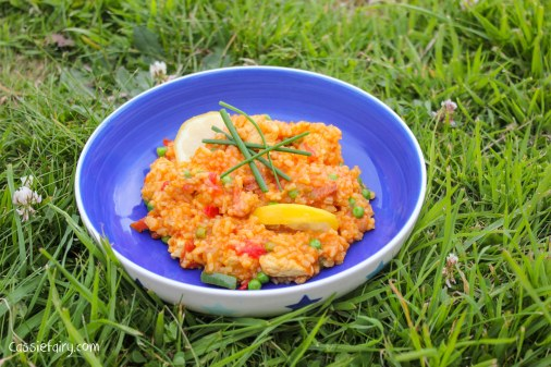 Glamping festival ideas - pieday friday recipe for one-pot campfire cooking - Jambalaya-8