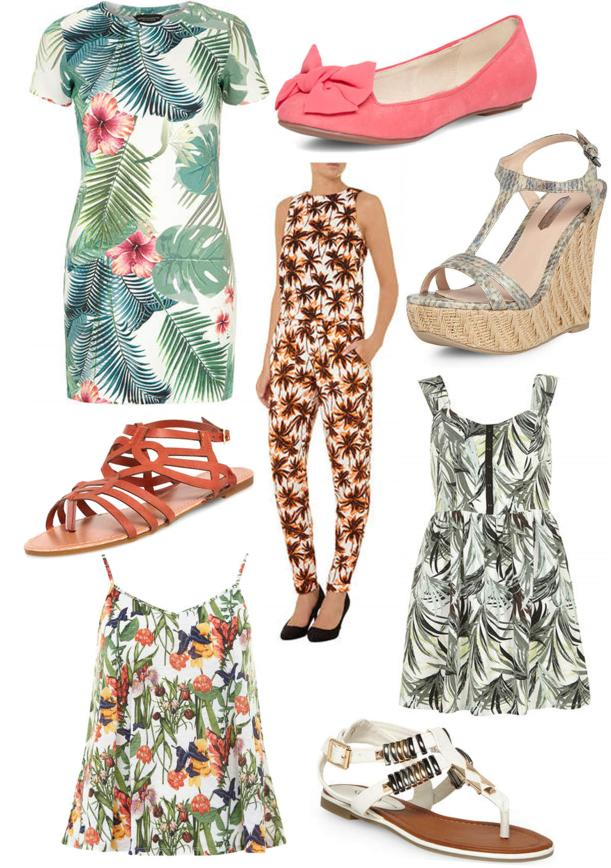 how to wear summer tropical prints and patterns