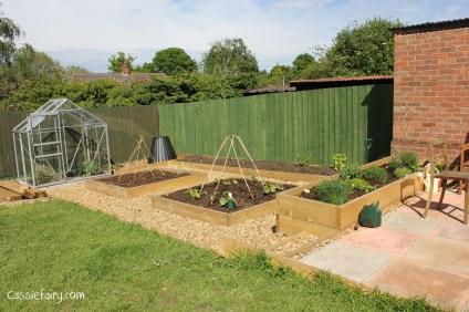 DIY raised herb garden veggie patch and patio-6