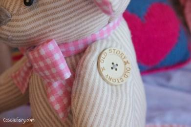 DIY sew your own teddy bear christening gift-4