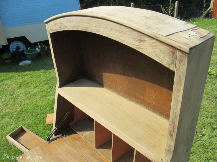 Vintage caravan project - DIY painted cabinet furniture makeover-3