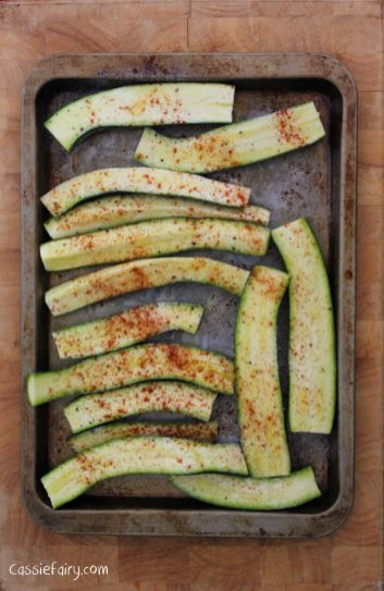 roast courgettes with parmesan and pasta