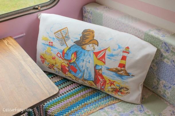 vintage Paddington Bear pillow slip cushion cover