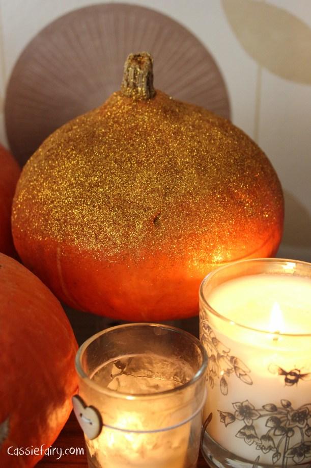 DIY glitter pumpkins for halloween - step by step tutorial-8