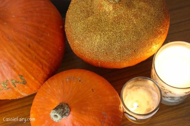 DIY glitter pumpkins for halloween - step by step tutorial-9