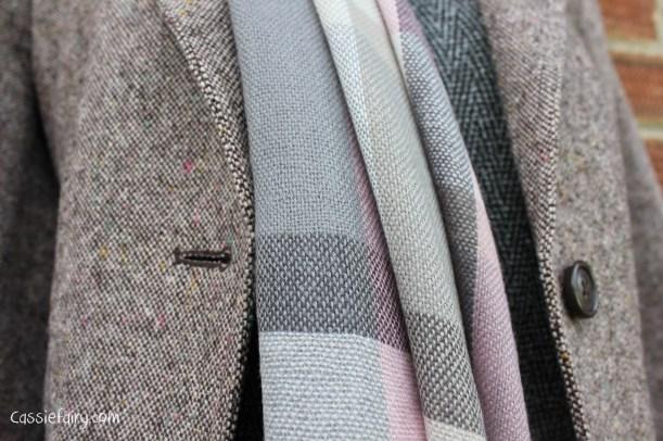 David Emanuel tweed dress styled 4 ways-7