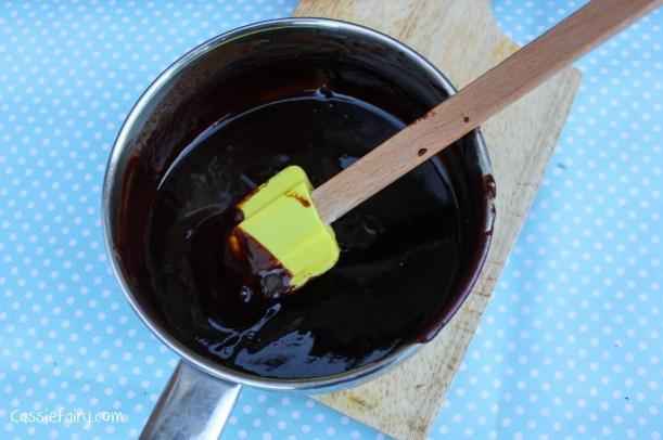 Step by step recipe for chocolate glaze-2