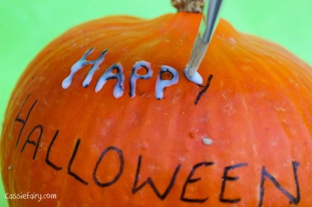 happy halloween DIY glitter pumpkins step by step tutorial-9