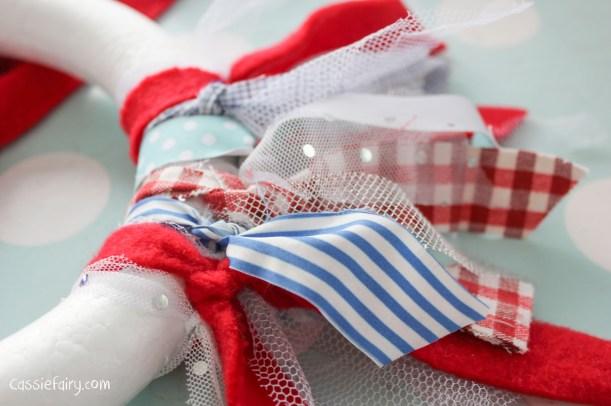 DIY fabric wreath for Christmas - step by step tutorial-5