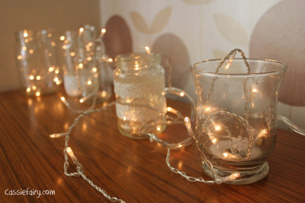 DIY fairy lights kilner jar display for christmas-4