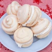 Cream Filled Snowball Meringues