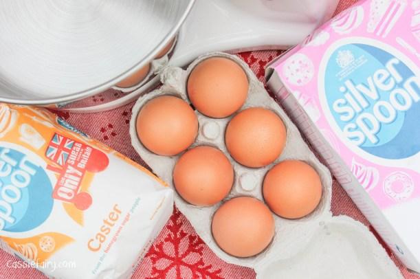 Recipe for snowball meringues Christmas pudding dessert-6