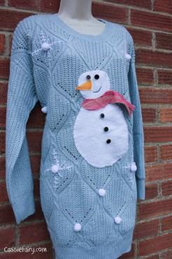 DIY christmas jumper festive snowman-13