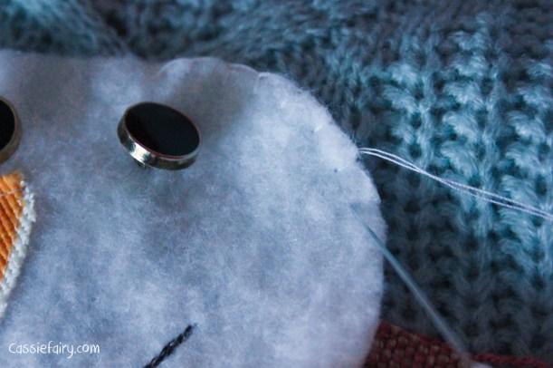 DIY christmas jumper festive snowman-7