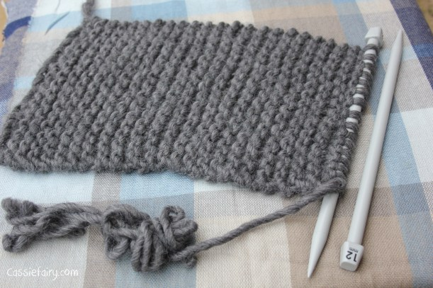ombre colour block scarf knitting project-4