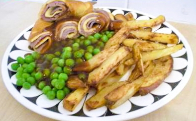pancake day beef and yorkshire pudding wraps