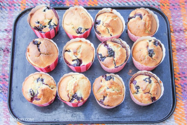 recipe for lemon and blueberry muffin cakes for afternoon tea on Valentines Day Mother's Day or birthday-7