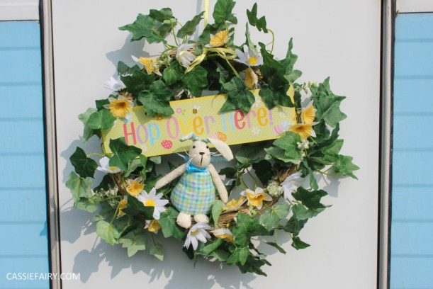 diy spring wreath project for easter