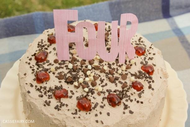 easy chocolate cherry cake baking recipe-5