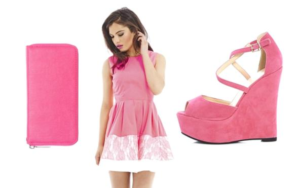 ladies day at the races - hot pink fashion look