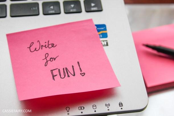 make it happen write for fun