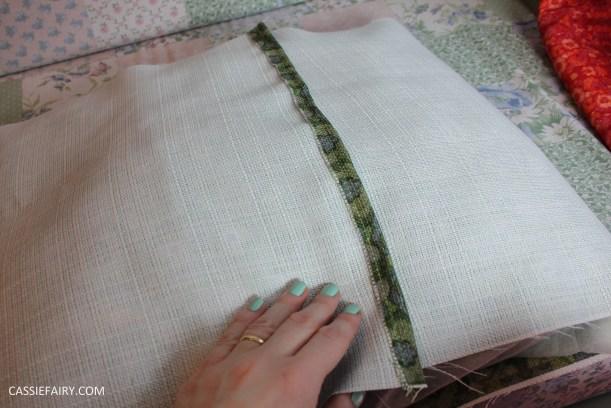 easy diy simple cushion step by step tutorial custom printed retro fabric design-2