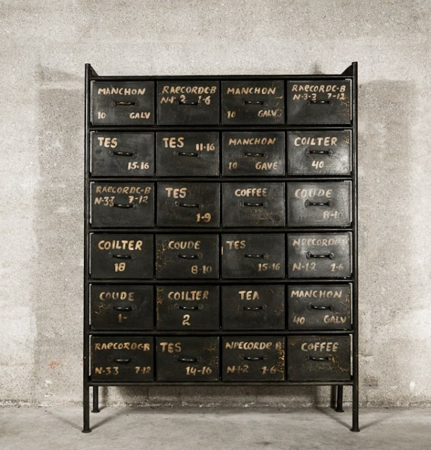 metal drawers workshop chest industrial style interior decor