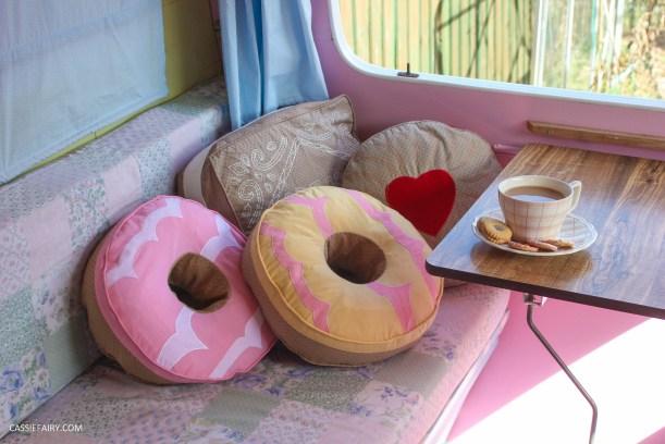 vintage caravan interior with biscuit cushions-2