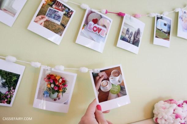 diy polariod photo wall display decoration using polabox-11