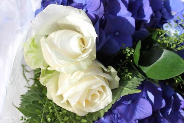 flower bouquet inspiration blue hydrangea and rose_-4