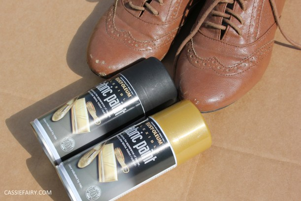 tuesday shoesday cassiefairy diy shoe makeover using fabric spray paint from rustoleum-14