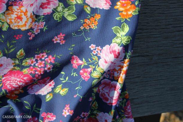 DIY design your own swimwear floral tankini-8