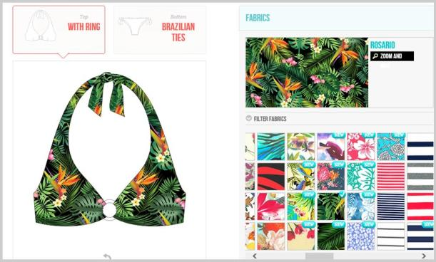 Surania design your own swimwear bikini fabric choices