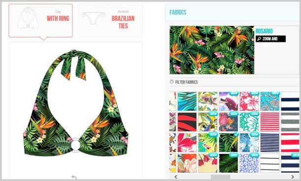 Surania design your own swimwear bikini fabric choices